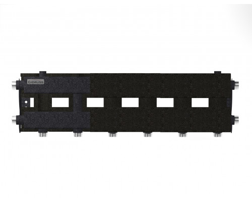 """MK-60-4D.EPP (до 60 кВт, магистраль G 1″, 3+1 контура G 1″, EPP-термоизоляция, 4D-кронштейны K.UMS, цвет """"черный муар"""", подключение для температурного датчика)"""