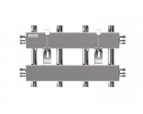 Модульный коллектор MKSS-150-4DUx25 (до 150 кВт, 2 магистр. подкл. G 1½″, 2 контура G 1″ вверх и 2 вниз)